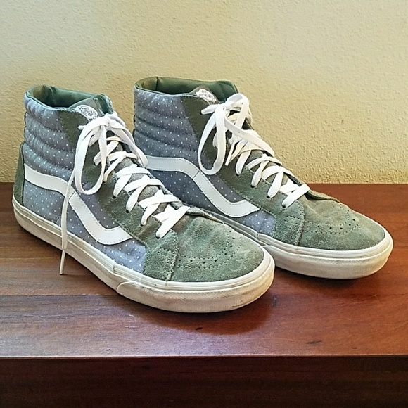 Vans Other - Vans Chambray Dot Old Skool Sk8 Hi - size 11
